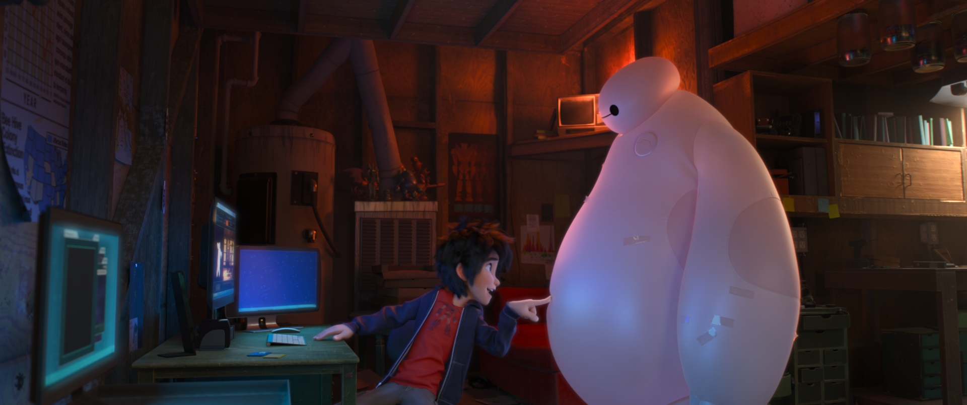 """BIG HERO 6"" Pictured (L-R): Hiro, Baymax. ?2014 Disney. All Rights Reserved."